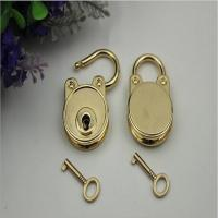 New style design bag metal accessories light gold oval shape hanging decorative padlock