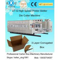 Digital Carton Box Making Machine With Double Oil Pipe Balance System , 2200mm Width