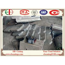 China High Abrasion Wear Cast Plates for Oil &Gas Industry Cr20Mo2Cu High Cr White Iron Chute Parts EB20061 on sale
