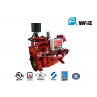Red Professional Fire Pump Diesel Engine 144KW With Water Cold Cooling