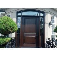Entry Ash Double Solid Wood Doors Wood Color Design With Top Chinese Brand Hardware