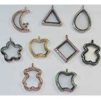 S.Steel Bear Moon Triangle Square Apple Five Star Water Drop Shape Glass Floating Lockets