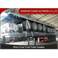 40 Foot High Bed Semi Trailer With 4 Axles For Carry Container , Cement Bags With Warranty