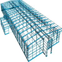 Prefab Portable Steel Frame Workshop Buildings With Light Steel Structure