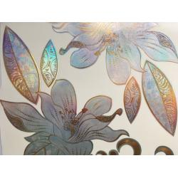 China Fashionable Water Transfer Ceramic Decal Paper Gold Luster For Dish / Cup on sale