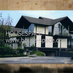 Container house curtain wall house with stainless steel staircase on