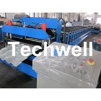 Manual, Automatical Type Color Steel Tile Roll Forming Machine With High Grade 45# Axis