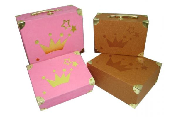 bo te de rangement cadeau personnalis carton papier valises avec lock m tal pour emballage de. Black Bedroom Furniture Sets. Home Design Ideas