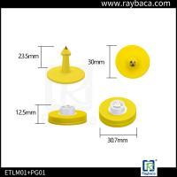 Two pieces RFID Animal Ear Tag Round shape ear tag for pig management
