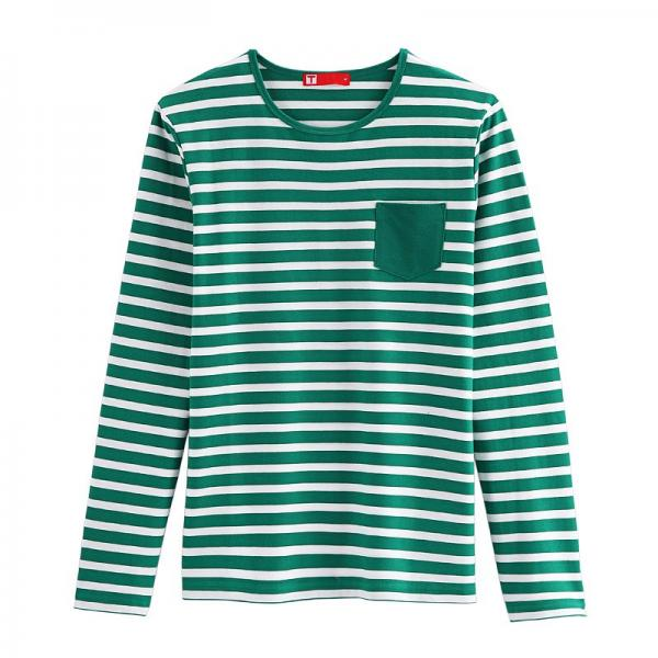 Lawrence Striped Long Sleeve T-shirt (Men) Green/White for sale ...