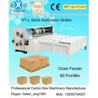 3KW Joggling Emergent Stop Surface Grinding XT-L Chain-Feeding Slotting Carton Machine