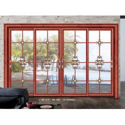 China Waterproof Double Glass Aluminium Sliding Door Internal 1.8mm thickness on sale