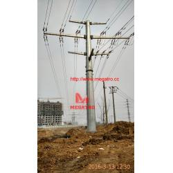 China 110KV-35KV-10KV double circuit tension pole on sale