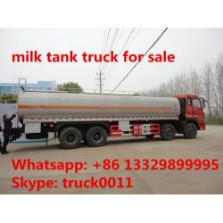 China factory sale dongfeng tianlong 6*4 30cbm liquid food tank truck for sale, stainless steel tank for liquid food for sale on sale