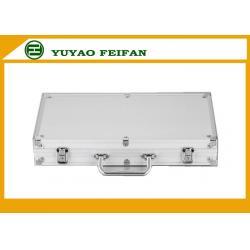 China 300 Pcs Sliver Sright Sharp Corner Aluminum Poker Cases Play Gaming Accessories on sale