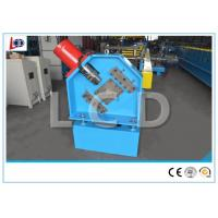 Metal Z Purlin Roll Forming Machine Hydraulic Cutting With Feeding Platform