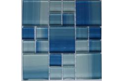 colorful glossy crystal glass mosaic tile for kitchen backsplash