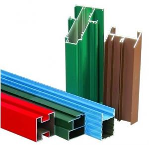 Non-insulated T4 Exterior Aluminum Sliding Window Frame Extrusion Profiles With Milling , Drilling