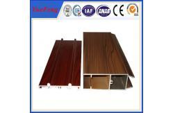 China Windows de superfície de madeira e extrusão de alumínio do perfil das portas para Windows e portas fornecedor
