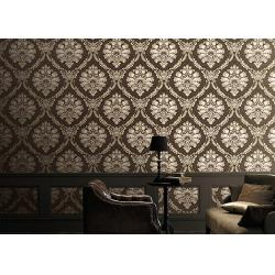 China Classical 1.06m Home Decoration Wallpaper Korean Style With Damsk Pattern , Eco Friendly on sale