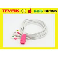 Disposable OEM/ODM IEC  5 leads ECG Cable For Patient Monitor