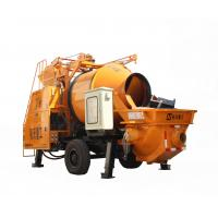 Full Hydraulic Diesel Engine Concrete Mixer Pump For House Building , High Efficiency