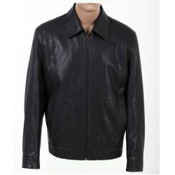 China Wholesale Fashion Size 52, Size 54, Black and Knitting Mens Designer Leather Jackets on sale