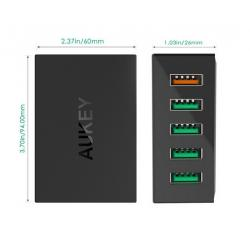 China Aukey Quick Charge Power Bank 2.0 54W 5 Ports Desktop Charging Station on sale