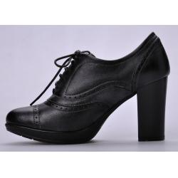 China High Heel Womens Booties Shoes , 36-41 Size Black Durable Lace Front on sale