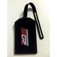 Personalized 2015 Porsche Carrera Cup Asia Silicone Business Card Holder , Travel Bag Tag In Black Color For Souvenirs