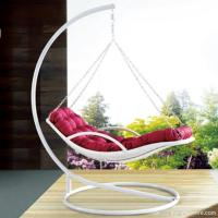 Premium Indoor Outdoor Furniture PE Rattan White Day Bed Style Swing Hanging Chair