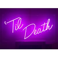 24 inch Height Custom Made Pink Color LED Lighting Neon Sign for Event