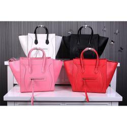 celine women black leather handbag luggage phantom luggage phantom