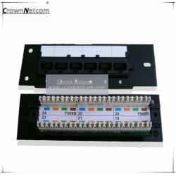 China Network 6Port mini patch panel Cat5e 6ports patch panel FLUKE Test RJ45 Category 5e Mini Patch panels on sale
