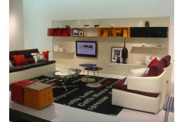 cuero italiano viven muebles de sala seccionales sof modular moderno
