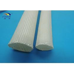 China Non-alkali Braided High Temperature Fiberglass Sleeving for Insulators / Wires Assemblies on sale