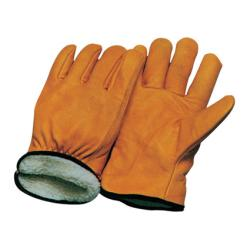 China women / man 12 inch double palm pvc Winter Leather Gloves 12306 on sale