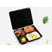 All in one integrated lunch box four-compart. takeaway trays injection molding creative bento boxes with cover linked