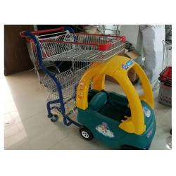 China Plastic / Steel Supermarket Children Shopping Cart , Baby Shopping Trolleys on sale