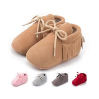 Wholesale Faux suede tassel Anti-slip slip on moccasin infant Walking shoes Baby shoes