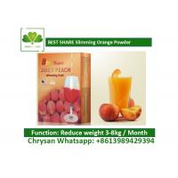 Peach Powder Leisure Slimming Juice , Fat Burning Fruit Juice For Weight Loss