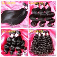 100% human hair natural black virgin Indian straight wavy curly remy hair