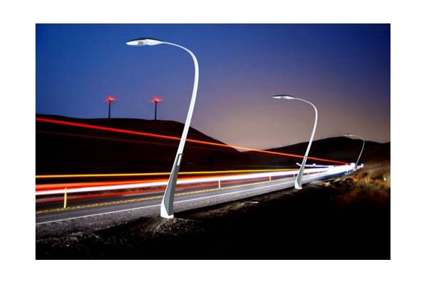 integrated solar street light with pole led light