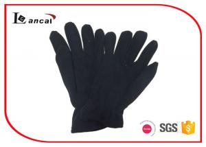 Black Polar Fleece Warmest Winter Gloves For Men , Mens Common Style Gloves