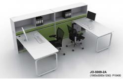 poste de travail moderne de bureau pour deux personnes jo 5009 2a en vente table de bureau. Black Bedroom Furniture Sets. Home Design Ideas