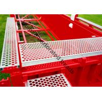 Aluminum Safety Grip Strut Grating Walkways , Crocodile Mouth Anti Slip Metal Plate