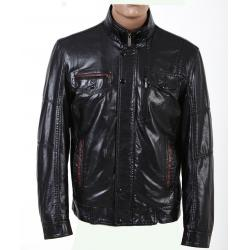 China Cool Designer, Black and Plus Size, Big and Tall PU Thick Leather Jacket for Mens on sale