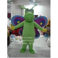 educational green butterfly mascot costume/customized fur insect mascot costume