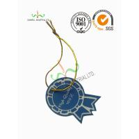 Multi Colored Clothing Hang Tags With Metallic String Round Corner Shape
