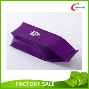 Back Fin Seal Side Gusset Side Cello Plastic Food Bags Coffee Bean Bags Packaging